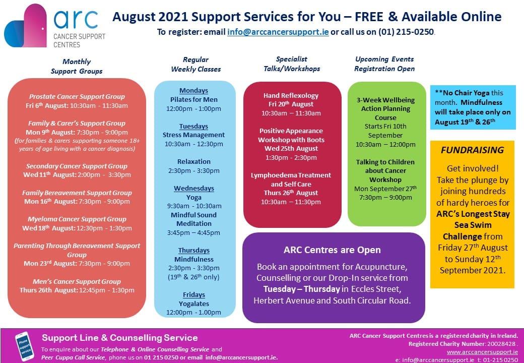 ARC August 2021 Calendar